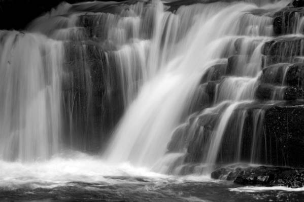Waterfall Art Print featuring the photograph Soft Clare Glen's Waterfall Ireland by Pierre Leclerc Photography