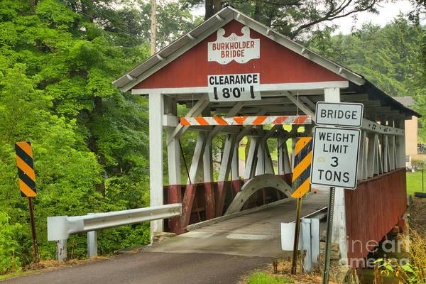 Burkholder Covered Bridge Art Print featuring the photograph Somerset County Burkholder Covered Bridge by Adam Jewell