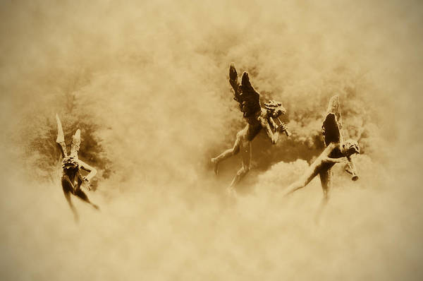 Angels Art Print featuring the photograph Song Of The Angels In Sepia by Bill Cannon