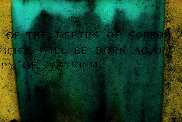 Cemetery Art Print featuring the photograph Sorrow by Grebo Gray