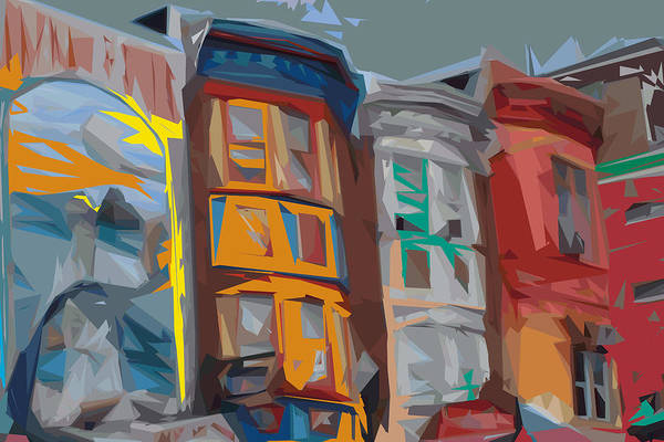 Philadelphia Art Print featuring the digital art South Street Revisited by Kevin Sherf