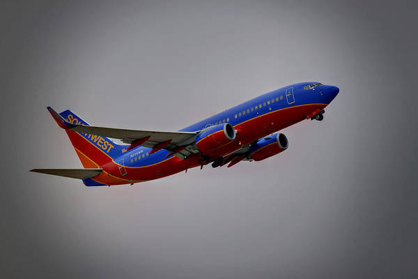 737 Print featuring the photograph Southwest Departure by Ricky Barnard