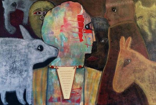 Figurative Art Print featuring the mixed media Spell Yourself Well by Jane Dickson