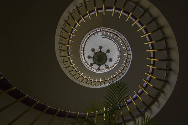 Stairs Art Print featuring the photograph Spiral by Ramabhadran Thirupattur