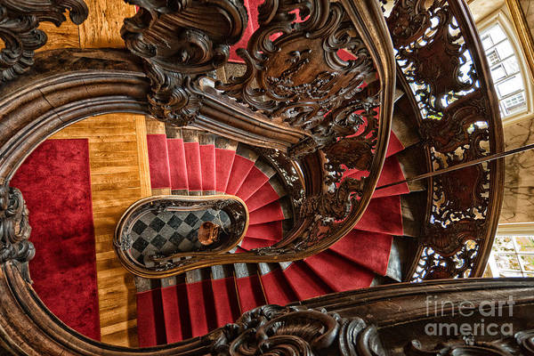 Wooden Staircase Art Print featuring the photograph Spiral Staircase by Brothers Beerens