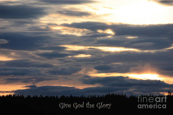 Spokane Art Print featuring the photograph Spokane Sunset - Give God The Glory by Carol Groenen