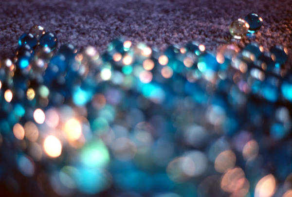 Marbles Art Print featuring the photograph Spotlighted Marble Abstract 3 by Steve Ohlsen