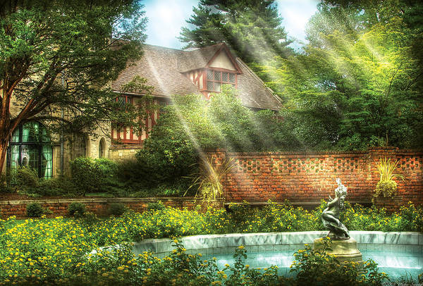 Savad Art Print featuring the photograph Spring - Garden - The Pool Of Hopes by Mike Savad