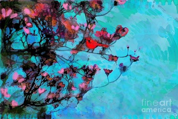 Birds Art Print featuring the photograph Spring Blossoms by Gina Signore