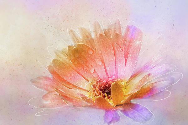 Daisy Art Print featuring the digital art Spring's Own Herald by Terry Davis