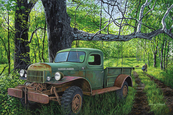 Dodge Art Print featuring the painting Springtime Power by Anthony J Padgett