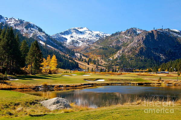 Squaw Valley Art Print featuring the photograph Squaw Valley In The Fall by YJ Kostal