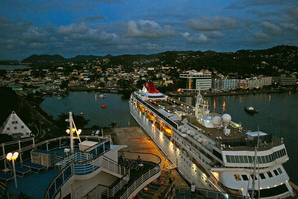 St.lucia Art Print featuring the photograph St. Lucia In The Evening by Gary Wonning