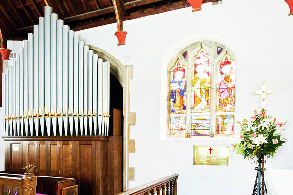 St Mylor Art Print featuring the photograph St Mylor Organ Pipes by Terri Waters