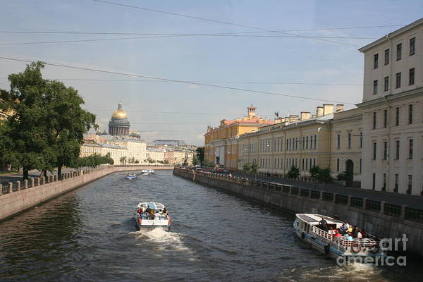 Canal Art Print featuring the photograph St. Petersburg Canal - Russia by Christiane Schulze Art And Photography