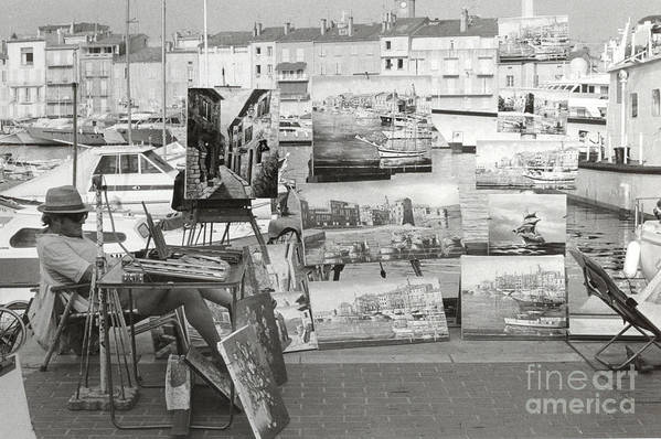 St. Tropez Art Print featuring the photograph St. Tropez Paintings by Andrea Simon