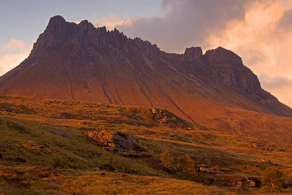 Scotland Art Print featuring the photograph Stac Pollaidh At Sunset by John McKinlay