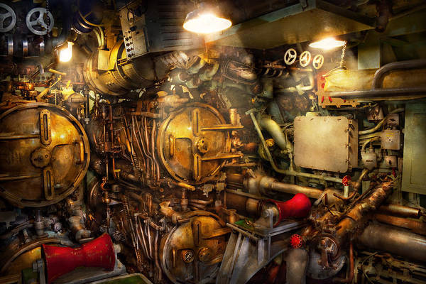 Steampunk Art Print featuring the photograph Steampunk - Naval - The Torpedo Room by Mike Savad
