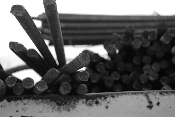 Black And White Art Print featuring the photograph Steele Rods by Rob Hans