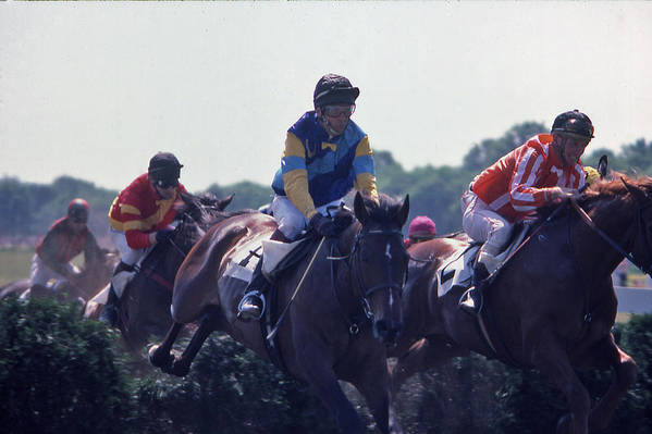 Steeplechase Art Print featuring the photograph Steeplechase - 3 by Randy Muir
