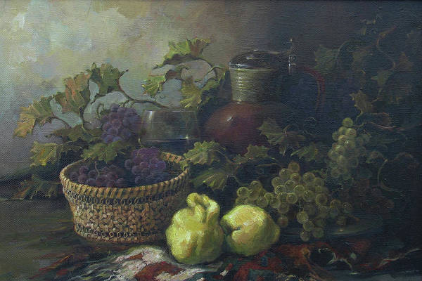 Armenian Print featuring the painting Still-life With Quinces by Tigran Ghulyan