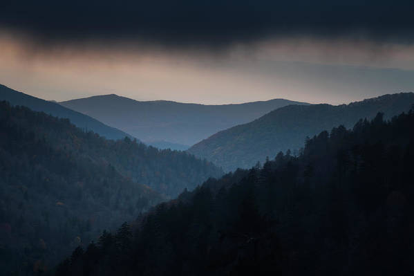 Smokies Art Print featuring the photograph Storm Clouds Over The Smokies by Andrew Soundarajan
