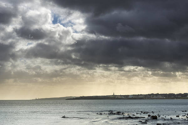 Architecture Art Print featuring the photograph Stormy Whitley Bay by David Taylor