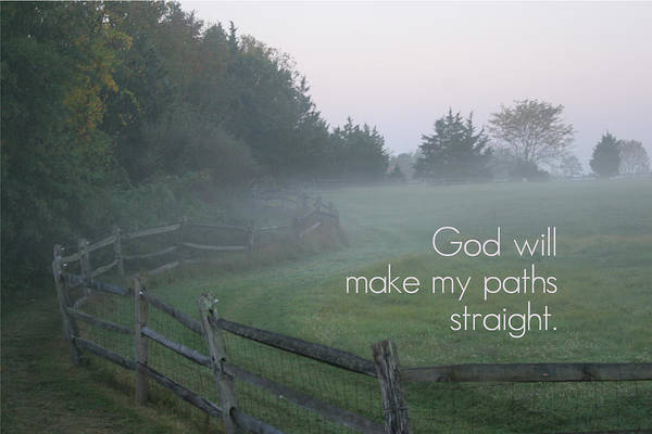 Art Print featuring the photograph Straight Paths - Text Full by Catherine B Elias