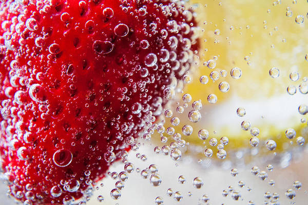 7up Art Print featuring the photograph Strawberry Lemonade by Angelle Holmes