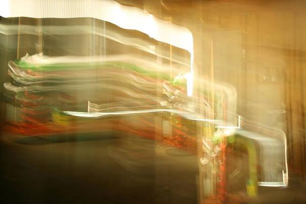 Abstract Art Print featuring the photograph Streak Door Lights by Joshua Sunday