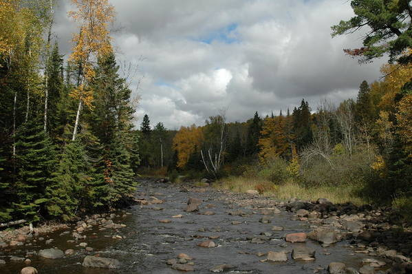 Nature Art Print featuring the photograph Stream At Tettegouche State Park by Kathy Schumann