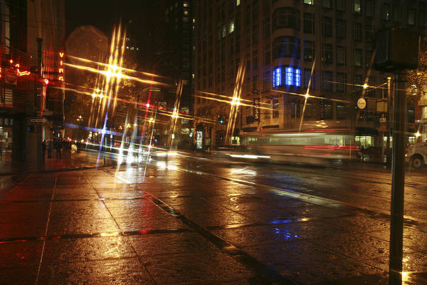 Night Art Print featuring the photograph Streets by Wes Shinn