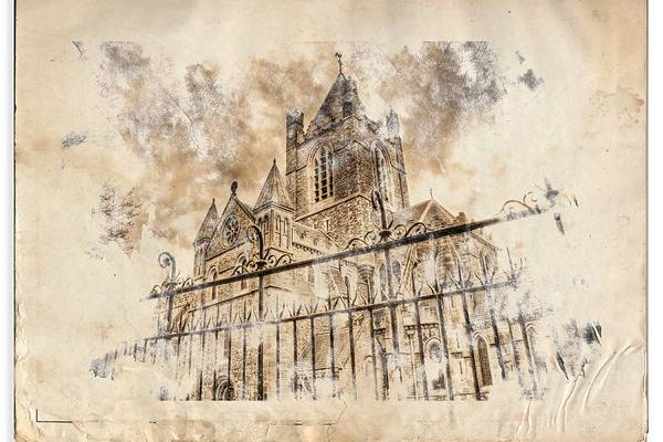 Patrick Art Print featuring the digital art Stroked S.patrick Cathedral by Andrea Barbieri