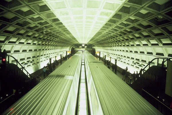 Train Art Print featuring the photograph Subway by Wes Shinn