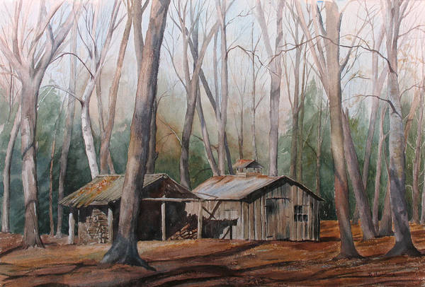 Sugar Shack Art Print featuring the painting Sugar Shack by Debbie Homewood