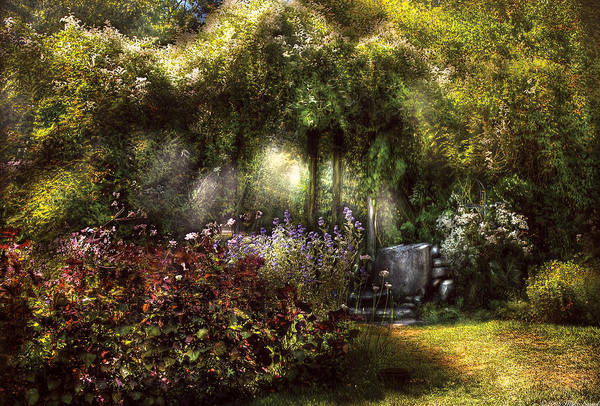 Savad Art Print featuring the photograph Summer - Landscape - Eve's Garden by Mike Savad