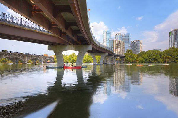 Lady Bird Lake Art Print featuring the photograph Summer Day At Lady Bird Lake In Austin Texas 1 by Rob Greebon
