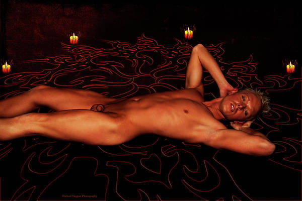 Male Model Art Print featuring the photograph Summoning An Incubus 2 The Aftermath by Michael Taggart