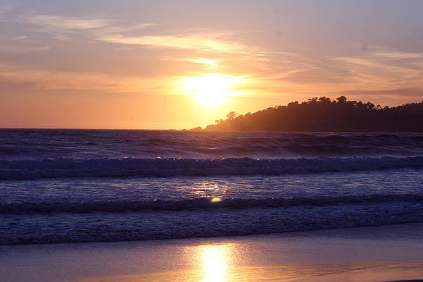 Sun Set Art Print featuring the photograph Sun Set In Carmel by Ofelia Arreola