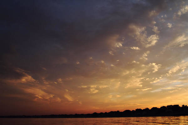 Sunset Art Print featuring the photograph Sun Settles On Connecticut by Karol Livote