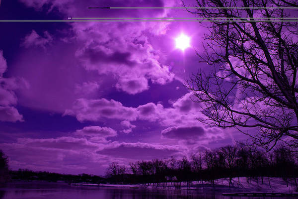 Violet Art Print featuring the photograph Sunburst In Violet by By Way of Karma