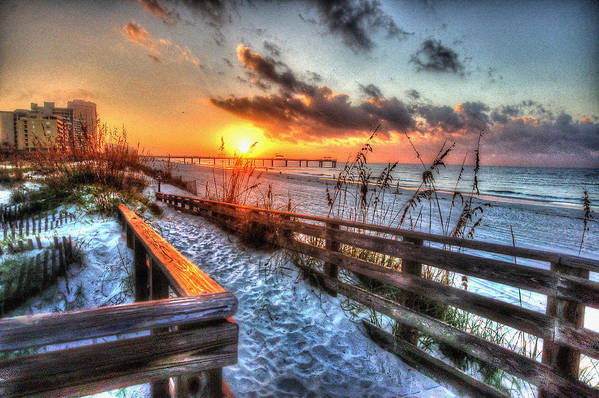 Alabama Photographer Art Print featuring the digital art Sunrise At Cotton Bayou by Michael Thomas