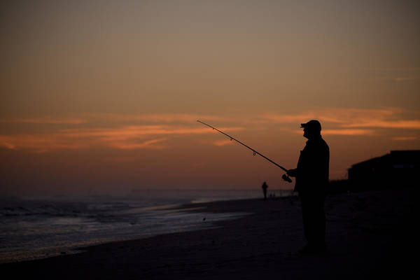Fishing Art Print featuring the photograph Sunrise Fishing by Christina Durity
