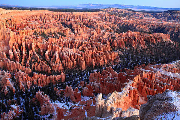 Bryce Art Print featuring the photograph Sunrise In Bryce Canyon Amphitheater by Pierre Leclerc Photography