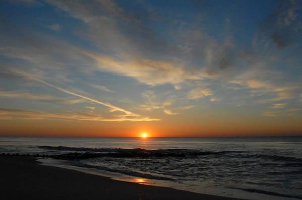 Ocean Sunrise Art Print featuring the photograph Sunrise Ocean 75 by Joyce StJames