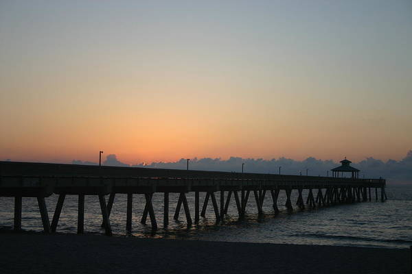 Landscape Art Print featuring the photograph Sunrise Pier by Dennis Curry