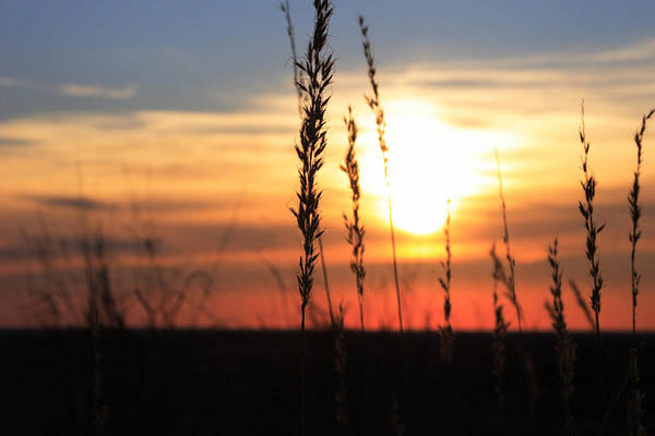 Oklahoma Art Print featuring the photograph Sunset At Monument Hill by Toni Hopper