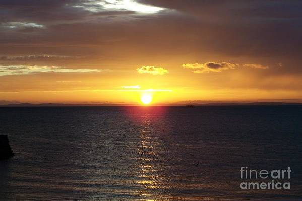 Sunset Art Print featuring the photograph Sunset At Pacific Shores by Dindin Coscolluela