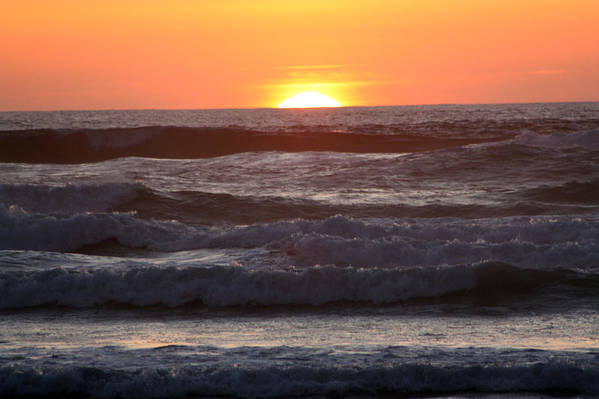 Sunset Art Print featuring the photograph Sunset Cannon Beach by Nick Gustafson