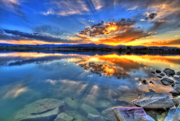 Colorado Print featuring the photograph Sunset Explosion by Scott Mahon